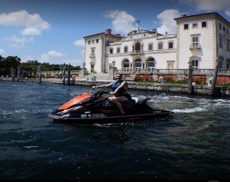 Take a jet ski tour of miami.