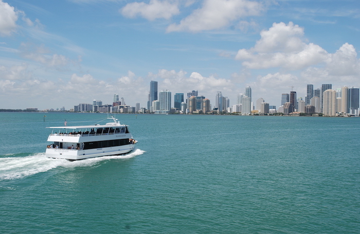 Millionaires row cruise with Island Queen yacht charters in Miami.